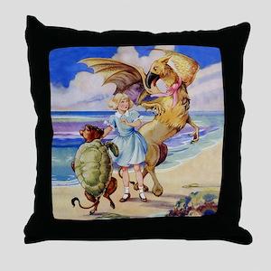 ALICE & THE MOCK TURTLE Throw Pillow
