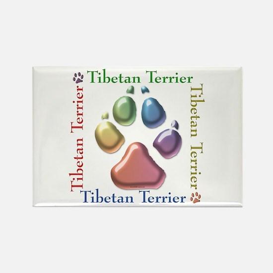 Tibetan Terrier Name2 Rectangle Magnet (10 pack)