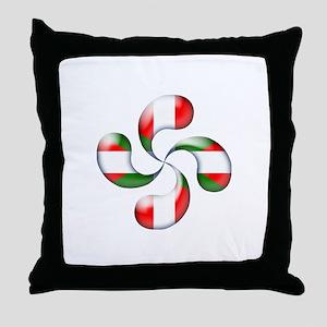 Basque Candy Throw Pillow