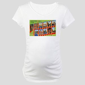 Panama Canal Greetings Maternity T-Shirt