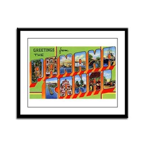 Panama Canal Greetings Framed Panel Print