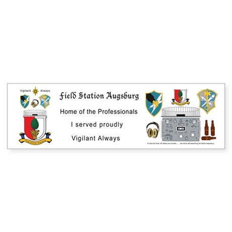 Field Station Augsburg Bumper Sticker