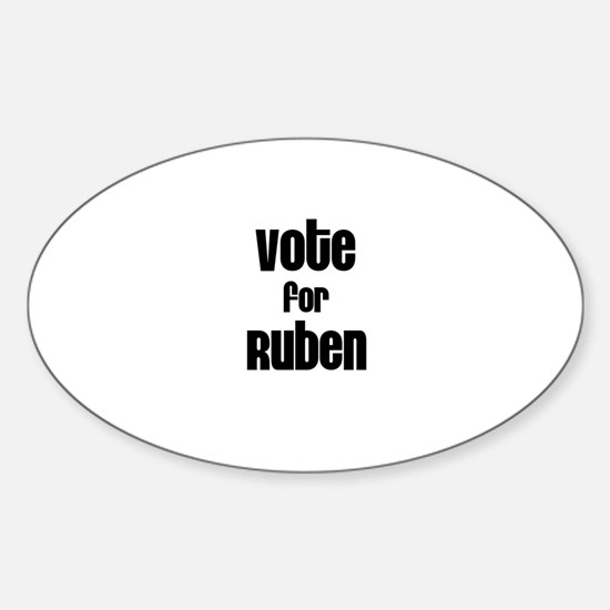 Vote for Ruben Oval Decal