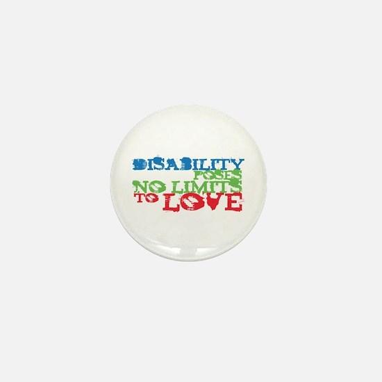 Disability + Love Mini Button
