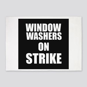 Window Washers On Strike 5'x7'Area Rug