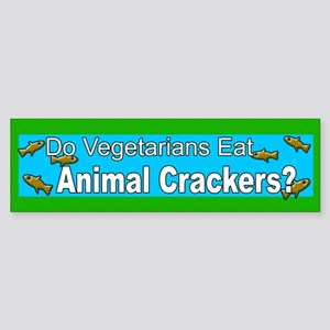 Funny Vegetarian bumper sticker