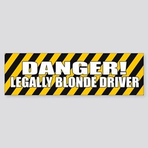 Funny legally blonde bumper sticker