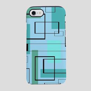 Mid Century Modern Rectangle iPhone 8/7 Tough Case
