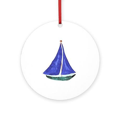 Sailboat Keepsake (round)