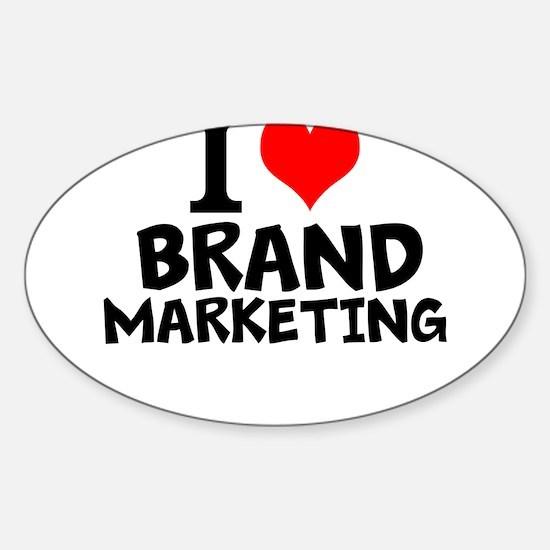 I Love Brand Marketing Decal