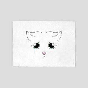 Sad Cat 5'x7'Area Rug