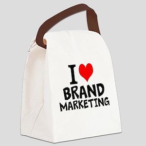I Love Brand Marketing Canvas Lunch Bag