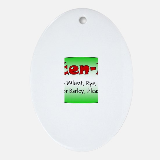 Cute Special diet Oval Ornament