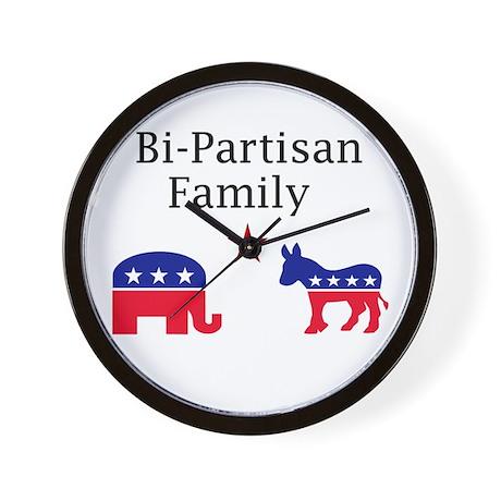 Bi-partisan Wall Clock