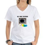 Kill Your TV Women's V-Neck T-Shirt