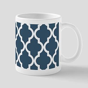 Dusky Blue Moroccan Pattern Mug