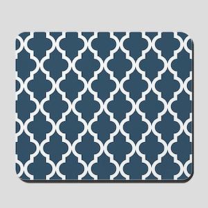 Dusky Blue Moroccan Pattern Mousepad