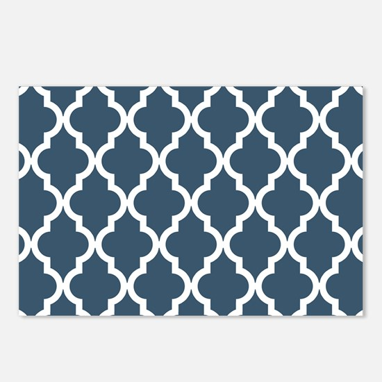 Dusky Blue Moroccan Patte Postcards (Package of 8)