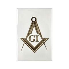 G.I. Mason Rectangle Magnet