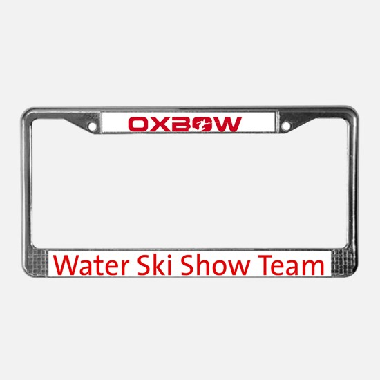 Unique Ski team License Plate Frame