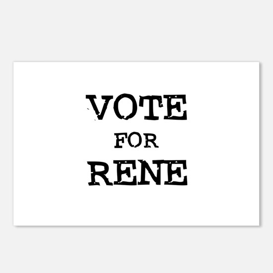 Vote for Rene Postcards (Package of 8)
