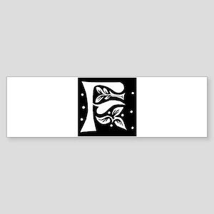 Art Nouveau Initial F Bumper Sticker