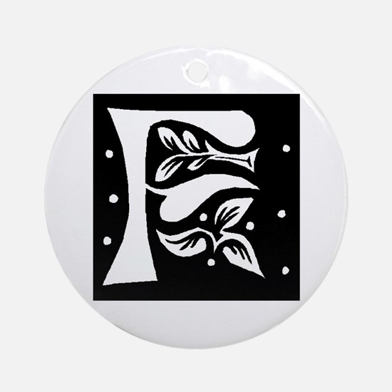 Art Nouveau Initial F Keepsake (Round)