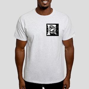 Art Nouveau Initial F Ash Grey T-Shirt
