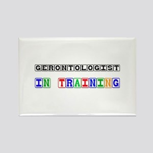 Gerontologist In Training Rectangle Magnet