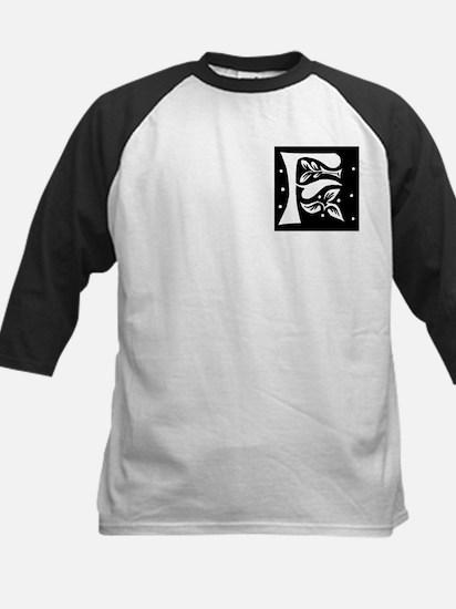 Art Nouveau Initial F Kids Baseball Jersey
