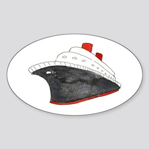 Cruise Ship Oval Sticker