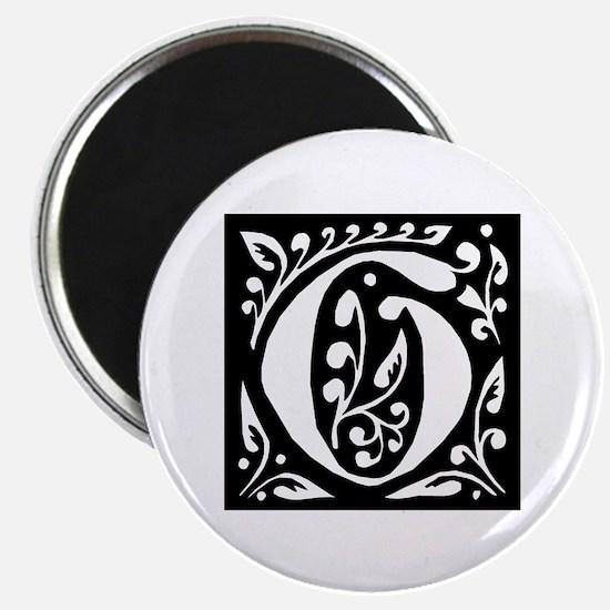 Art Nouveau Initial G Magnet