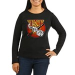 T&T Logo! Women's Long Sleeve Dark T-Shirt