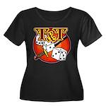 T&T Logo! Women's Plus Size Scoop Neck Dark T-Shir