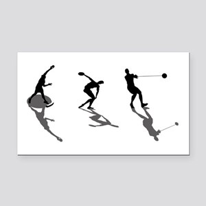 Track And Field Rectangle Car Magnet