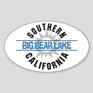 Big Bear Lake California Oval Sticker
