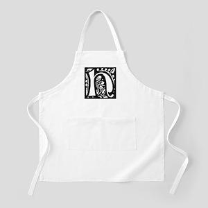 Art Nouveau Initial H BBQ Apron