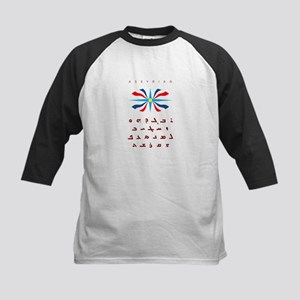 Assyrian Flag with Alphabet Kids Baseball Jersey