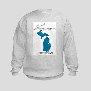 Michigan gift Kids Sweatshirt