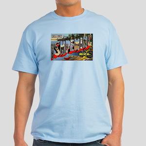 Ishpeming Michigan Greetings Light T-Shirt