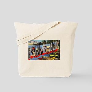 Ishpeming Michigan Greetings Tote Bag