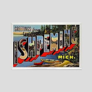 Ishpeming Michigan Greetings Rectangle Magnet