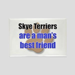 Skye Terriers man's best friend Rectangle Magnet