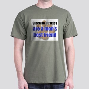 Siberian Huskies man's best friend Dark T-Shirt