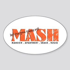 MASH Game Oval Sticker