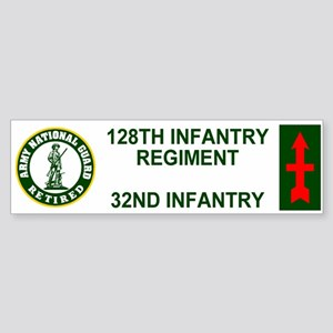 2-128th Infantry <BR>Retired Bumper Sticker