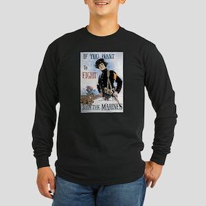 US Marines WWI Long Sleeve Dark T-Shirt