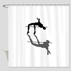 High Jumper Shower Curtain