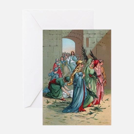 Jesus enters Jerusalem Greeting Card