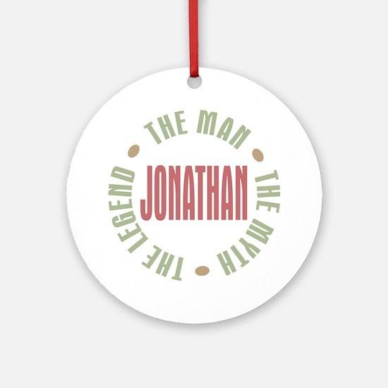 Jonathan Man Myth Legend Ornament (Round)